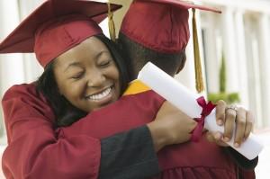 Graduates-Hugging